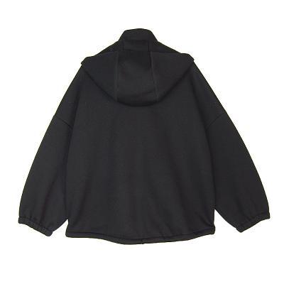 turtle hoodie jumper black